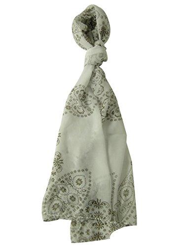 Style & Co. Women's Henna Print Chiffon Wrap Scarf (OS, Driftwood) - Yarn Woods Print