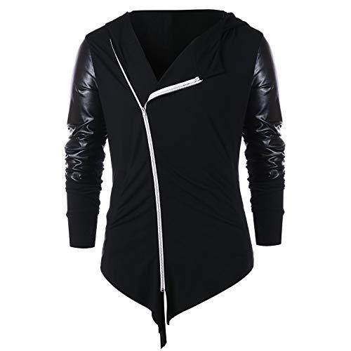 BoyNewYork Ladies Fashionable Sweater Asymmetric Zip Embellished Panel Womens Hoodies from BoyNewYork