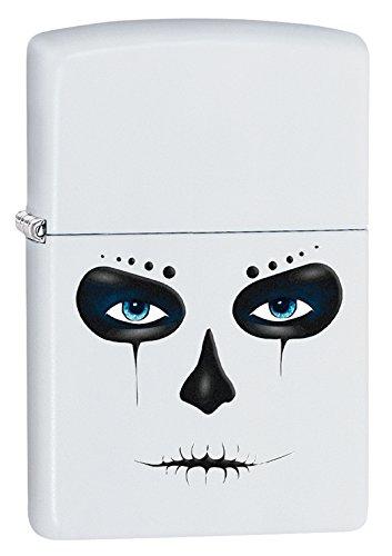 Zippo Skull Mask White Matte Pocket Lighter