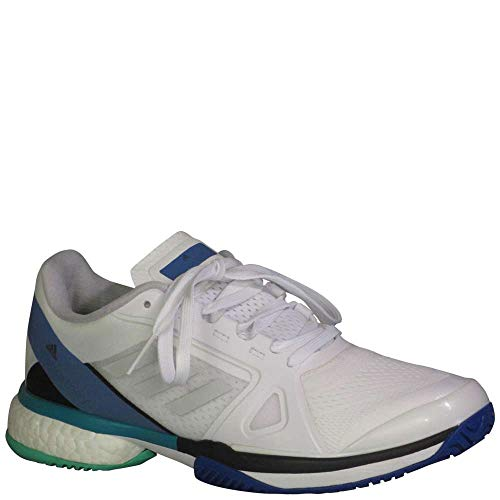 new arrival f84ba f12ec adidas aSMC Barricade Boost Shoe - Women s Tennis 7 White Stone Ray Blue