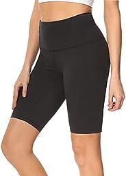 Biker Shorts for Women – High Waist Tummy Control Stretch Yoga Shorts for Workout Running - Reg &
