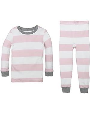 Baby Pajama Tee and Pant Set, 100% Organic Cotton