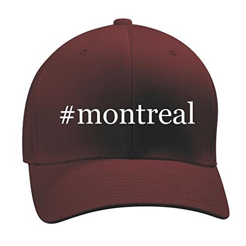 #montreal - A Nice Hashtag Men's Adult Baseball Hat Cap, Maroon, Large/X-Large