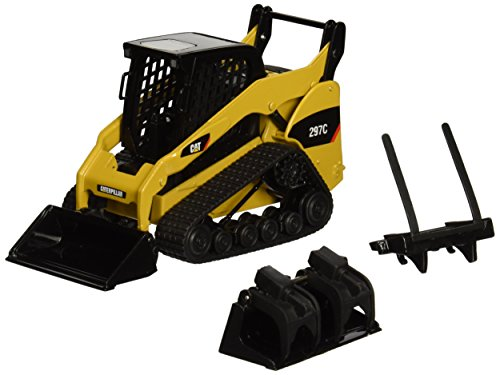Norscot Cat 297C Multi Terrain Loader with Work Tools 1:32 Scale ()