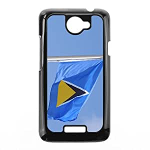 Saint Lucia Flag HTC One X Cell Phone Case Black UD1378126