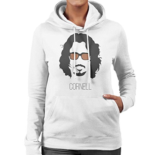 Women's Women's White Cornell Cloud 7 Sweatshirt Silhouette Silhouette Music Icon City Hooded Chris x0RqST