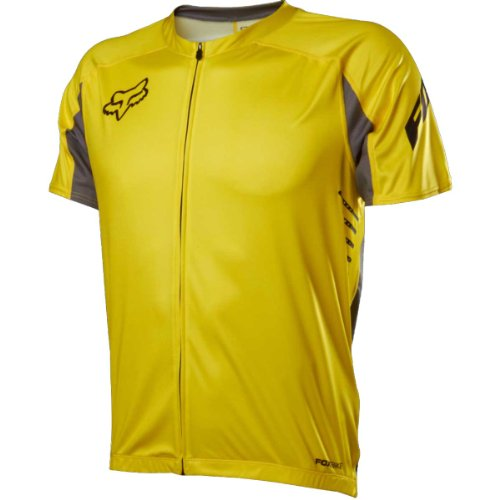 Fox Head Men's Attack Zip Jersey, Yellow, Large