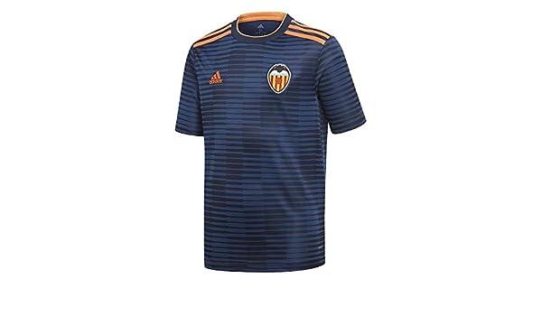 adidas VCF A JSY Y - Camiseta 2ª equipación Valencia CF, Niño, Azul(Maruni/SENASO): Amazon.es: Deportes y aire libre