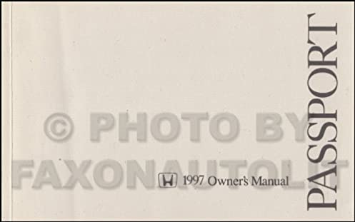 1997 honda passport owner s manual original honda amazon com books rh amazon com 2001 Honda Passport 2001 Honda Passport