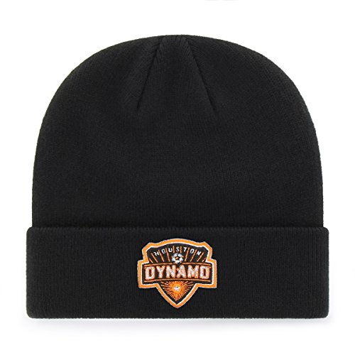 Dynamo Ball - OTS MLS  Houston Dynamo  Raised Cuff Knit Cap, Black, One Size