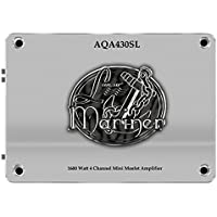 Lanzar AQA430SL 1600-Watt 4-Channel Mini Mosfet Marine Amplifier