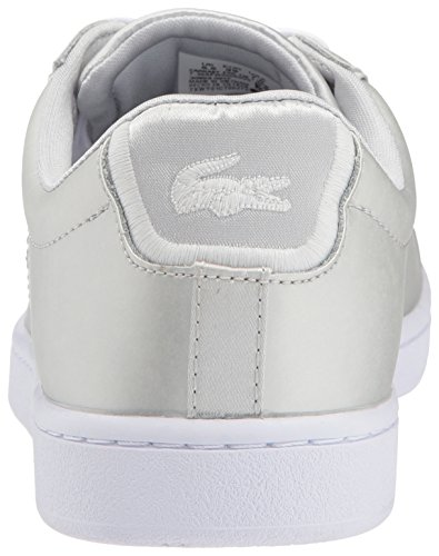 Lacoste Womens Carnaby Evo 118 1 Spw Sneaker Grigio Chiaro / Bianco