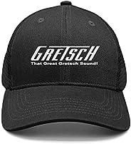 YAMMI Unisex Trucker Hat for Mens Womens Gretsch-Guitars-Logo- Caps