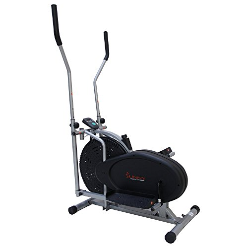 Sunny Health & Fitness SF-E1404 Air Elliptical Trainer, Gray