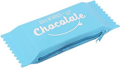 WOVELOT Kawaii Estuches de LáPices Silicona Chocolate Candy Lindos Bolsos de LáPices para úTiles Escolares y de Oficina Azul: Amazon.es: Oficina y papelería