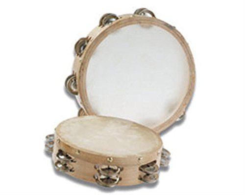 Grover/Trophy B306 Tambourines with Non-Replaceable Skin Head - 6