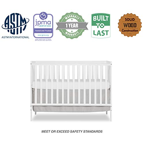 41DutQN3tdL - Dream On Me, Synergy 5-in-1 Convertible Crib, White