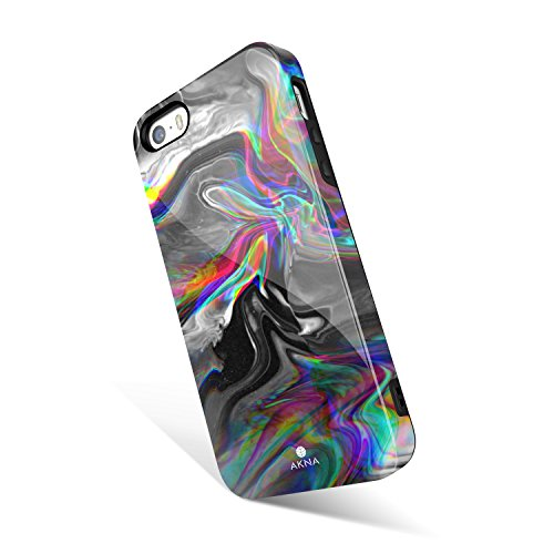 Akna Watercolor Pattern Case for iPhone SE 5S 5, Hard Silicon Cover Compatible iPhone 5s/SE/5 (1246-U.S)