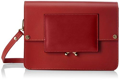 Chicca Borse 1637 - Bolso de hombro Mujer Rojo (Rosso Rosso)