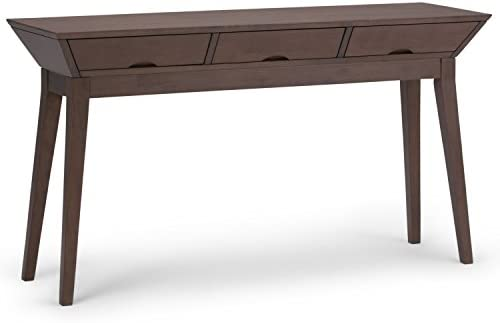 Magnificent Simpli Home Axctsa 03 Tessa Solid Hardwood 54 Inch Wide Contemporary Console Sofa Table In Walnut Brown Pabps2019 Chair Design Images Pabps2019Com