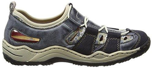 Kornblume Women's 14 L0561 Navy Top Beige Blau Low Blue Atlantic Rieker Sneakers qwFzdq1