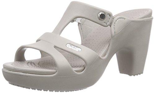 platinum Gris V Femme Escarpins Cyprus Heel platinum W Crocs Wg8n7Hq1