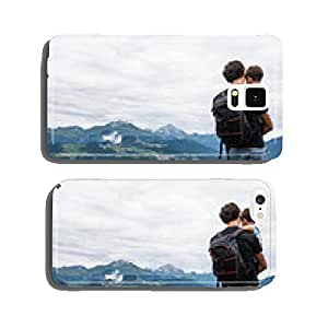father with son mountain cell phone cover case iPhone6