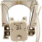 BUHL ELECTRIC QLV-1 STEATITE BODY MATERIAL GX5.3 / 2 PIN Sockets
