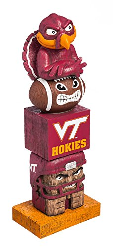 NCAA Virginia Tech Hokies Tiki Totem (Virginia Hokies Tech Gear)