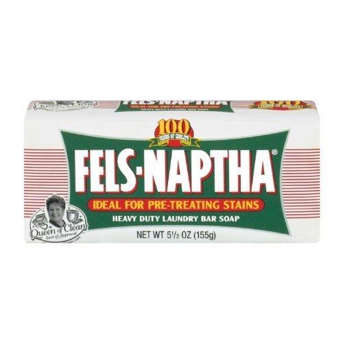 Fels-Naptha 04303-01 Heavy-Duty Laundry Bar Soap, 5.5 oz ...