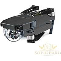 SopiGuard Brushed Gunmetal Precision Edge-to-Edge Coverage Vinyl Skin Controller Battery Wrap for DJI Mavic Pro