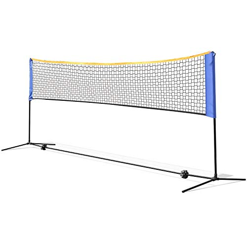 femor Portable Badminton Tennis Net - 13 ft Net for Soccer Tennis, Kids Volleyball, Beach Ball - Sports Net with Poles & Carrying Bag for Indoor, Outdoor, Beach, Backyard