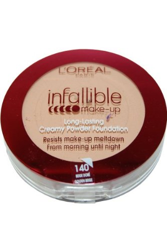 Amazon.com : L39;Oreal Infallible Makeup Creamy Powder Foundation - 140 Golden Beige : Beauty