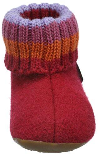 HaflingerPablo - pantuflas sin forro Unisex Niños Rojo - Rot (Ziegelrot 85)