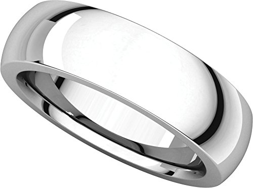 Mens Platinum, Heavy Comfort Fit Wedding Band 6MM (sz 10) (Platinum Heavy Ring)
