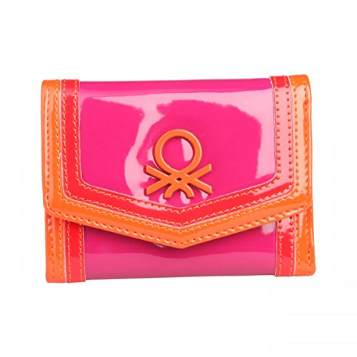 benetton-wallet-fuchsia-compartments-for-docs-coin-holder-imported-from-italy