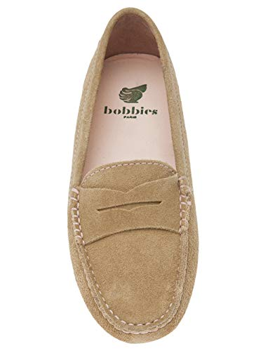 Suede Parisienne La Mocassins Leather Champagne Bobbies Cvq6UTwU
