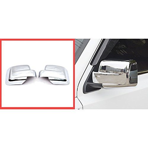 Wotefusi Car New Left & Right ABS Chrome Rearview Side Mirror Cover Molding Trim Set For Jeep Patriot 2011-2016 2012 2013 2014 2015