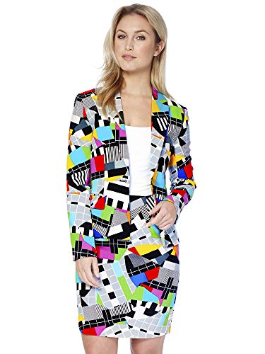 OppoSuits Crazy Suits with Funny Prints for Women- Full Set: Jacket and Skirt - Full Skirt Set