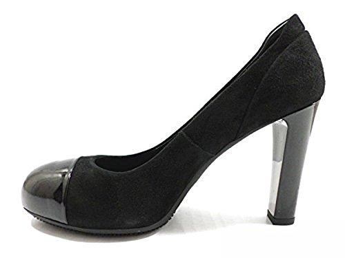 Hogan Zapatos Mujer 35 EU Zapatos de Salón Gamuza Negro AZ141
