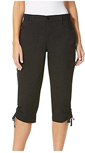 Gloria Vanderbilt Lillie Skimmer Pants,Black,20W (Black Womens Skimmer)