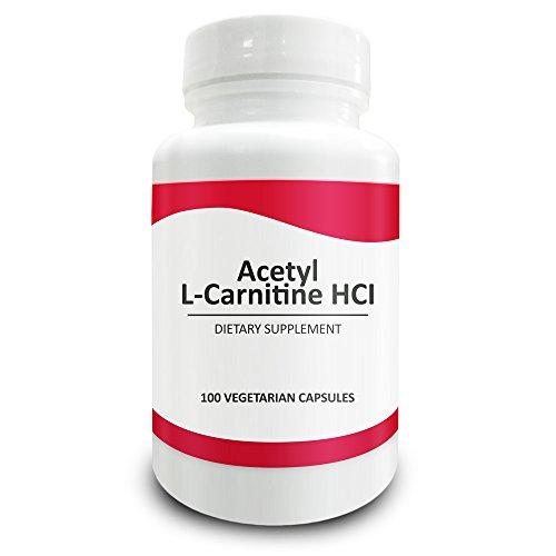 La Science pure acétyl L-Carnitine HCI 525mg - immunité, Detox & cerveau Support - 100 Capsules végétariennes