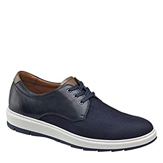 Johnston & Murphy Men's Elliston Plain Toe Navy Full Grain/Nylon 9.5 M US