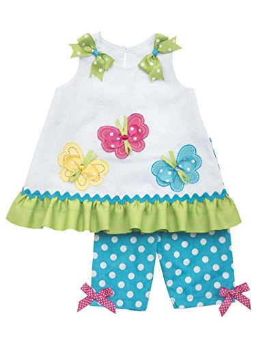 Butterflies Capri Girls Baby Clothes (Rare Editions Baby-girls Butterfly Dress and Capri Set (3-6 Months))