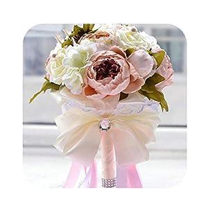 Romantic Artificial Flowers Peony Wedding Bouquets 2019 in Autumn Bridal Bridesmaid Bouquet Wedding Accessories Ramos de Novia 109
