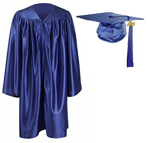 GraduationMall Kindergarten Graduation Gown Cap Tassel Set 2018 Royal Blue (Kindergarten Graduation Tassels)