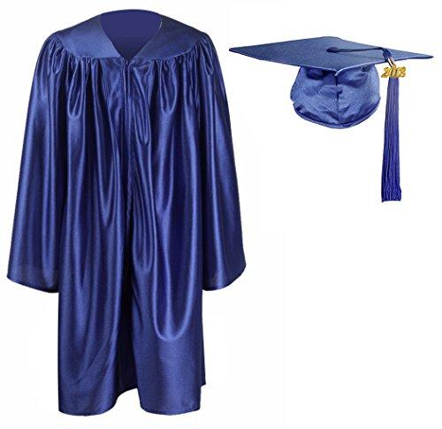GraduationMall Kindergarten Graduation Gown Cap Tassel Set 2018 Royal Blue (Preschool Graduation Gowns)
