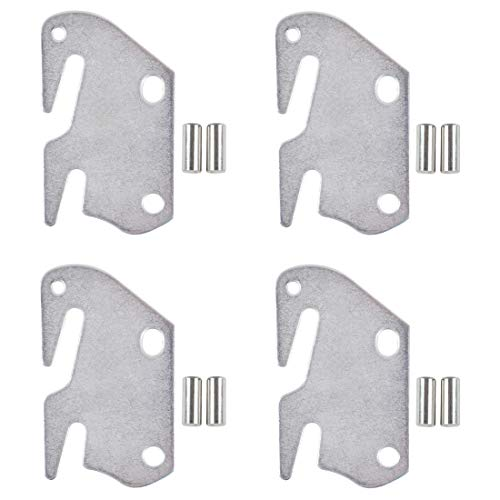 kilofly 4 PCS Wooden Bed Frame Bracket Headboard Footboard #10 Hook Plate