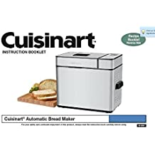 Cuisinart Bread Machine Manual & Recipes (Model: CBK-100) [Plastic Comb] Brea...