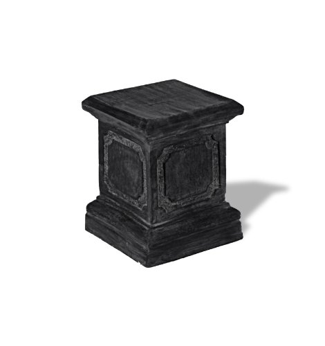 Amedeo Design ResinStone 1900-1C Paneled Pedestal, 15 by 15 by 20-Inch, Charcoal by Amedeo Design